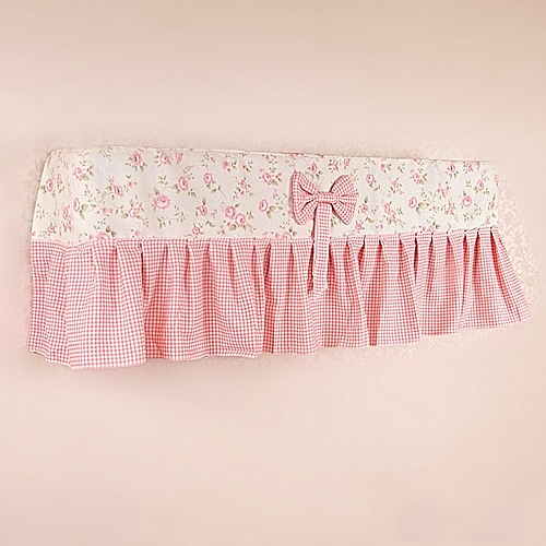 Cotton Air Conditioning Cover Butterfly Flower Pattern Hanging Cover Cloth Dust Cover 77 X 18 X 35cm