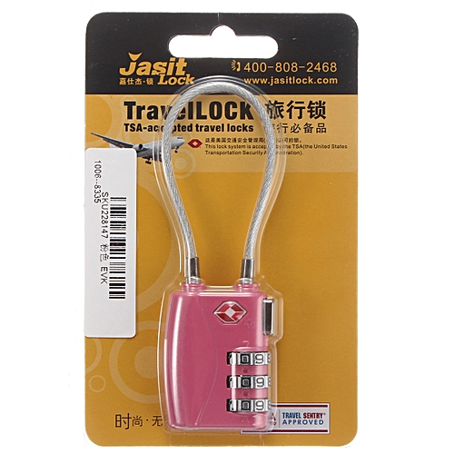 132MM Wire Rope Box Lock Available In Four Colors Safe And Secure Three Passwords Into The Lock Body Exquisite More Secure