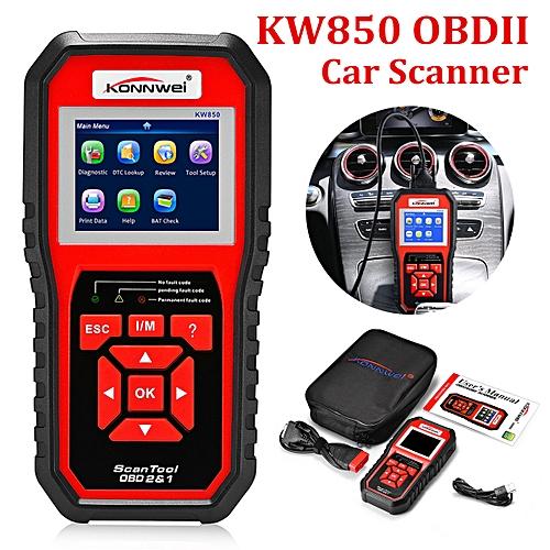 KW850 OBD2 Auto Scanner Car Engine Fault Code Reader Scan Diagnostic Tool W/ BAG