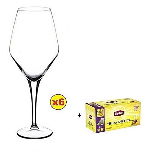 PASABAHCE RED WINE GLASS SET - 6PCS