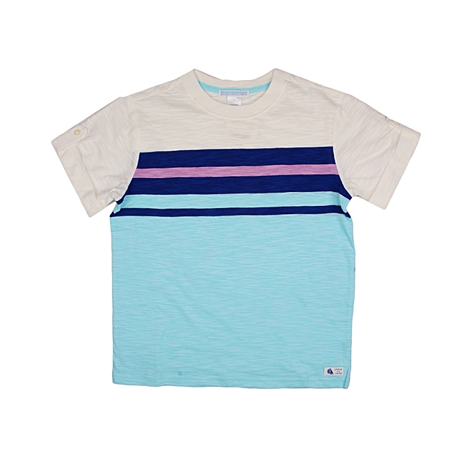 458e643e3 Janie and Jack Boys Short Sleeves Mixed Colour Stripped T-Shirt ...
