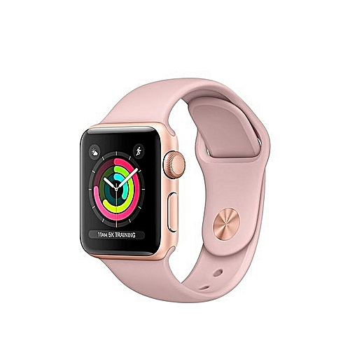 Apple Apple Watch Series 3 38mm Gold Aluminum Case With Pink Sand Sport Band