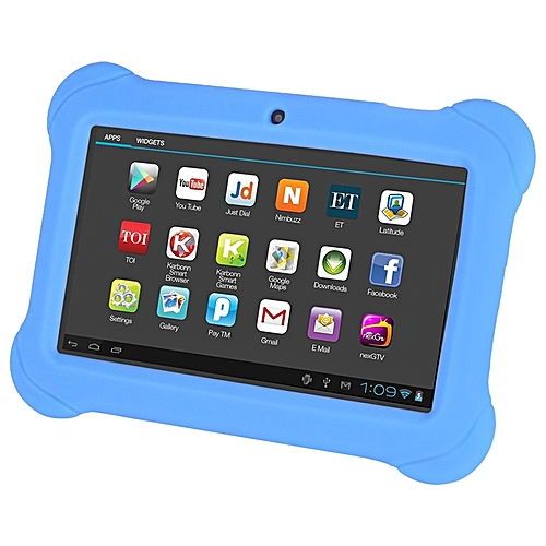 4GB Android 4.4 Wi-Fi Tablet PC Beautiful 7 Inch Five-Point Multitouch Display - Special Kids Edition Blue