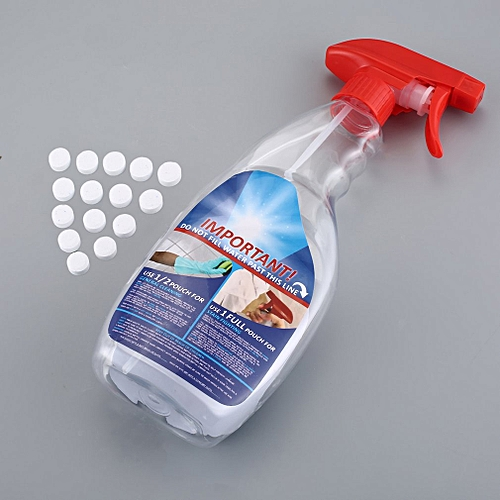 Effervescent Spray Cleaner Set With Bottle All Purpose Home White