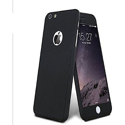 DEGREE IPhone 6 Plus Full Body Protector Tempered Glass & Case Cover - BLACK
