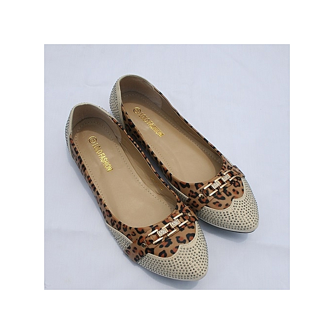 0e5f4bb719e95b Lolo Fashion Beautiful Women Flat Shoes - Multicolour Leopard Skin ...
