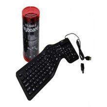 Foldable & Washable USB External Keyboard - Black