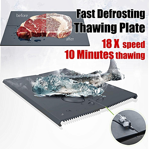 OLDRIVER Fast Defrosting Tray Kitchen Safe Defrost Meat Or Frozen Food 18x Speed