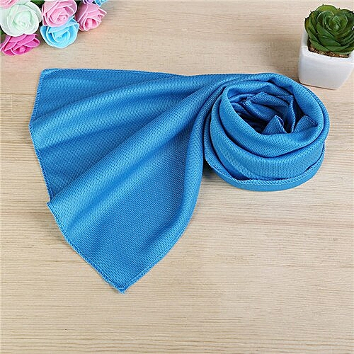 Hot Summer Sport Ice Towel 10 Colors 80*30cm Utility Enduring Instant Cooling Face Towel Heat Relief Reusable Cool Towel 2B0308