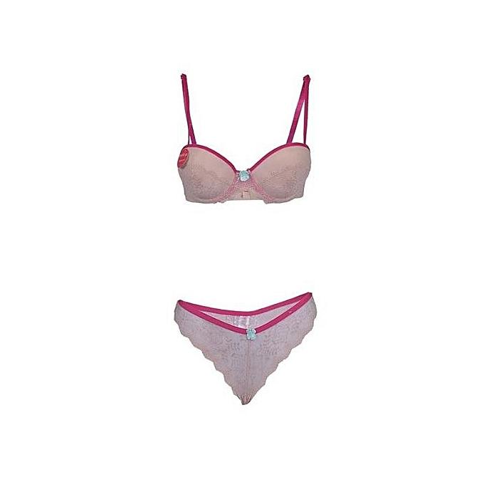 3dfdef439 Fashion Lace Bra   Pant Lingerie Set