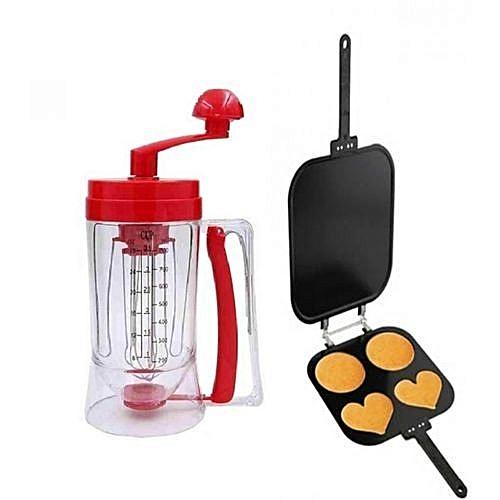 Manual Pancake Mixer And Dispenser + Pancake Maker