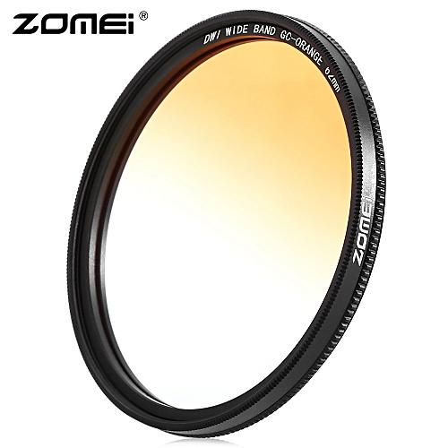 GC - SLIM 62mm Graduated Color Filter For Nikon DSLR Cameras Lens - Orange