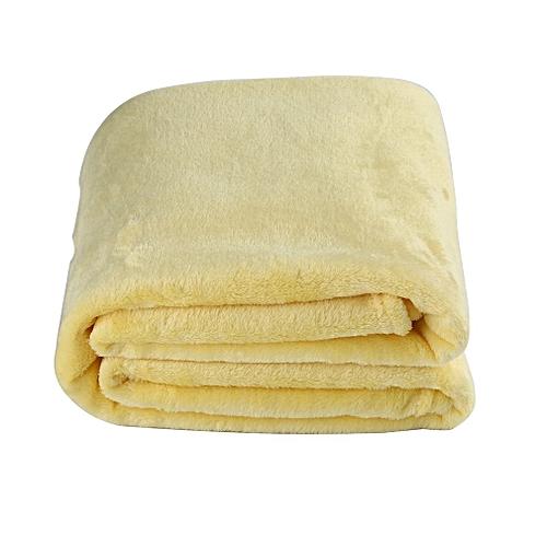 Solid Color Flannel Coral Blanket Plain Color Velvet Blanket Knee Blanket Goose Yellow