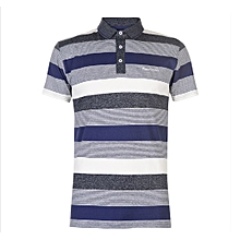 032128f58 Authentic Yarn Dye Jersey Polo Shirt Large -Navy Ind White for sale Nigeria