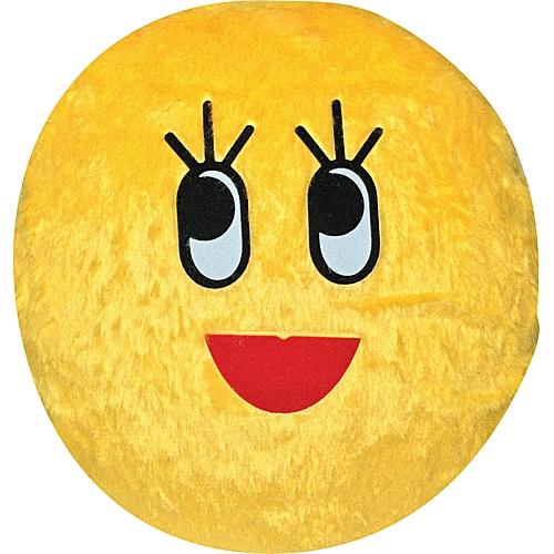 Eyelashes Smiley Pillow