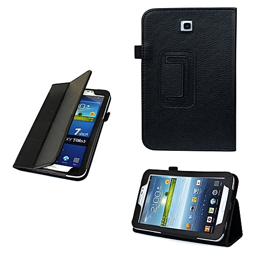Folio Leather Case Cover Stand For Samsung Galaxy Tab 3 7&#39 P3200 BLK