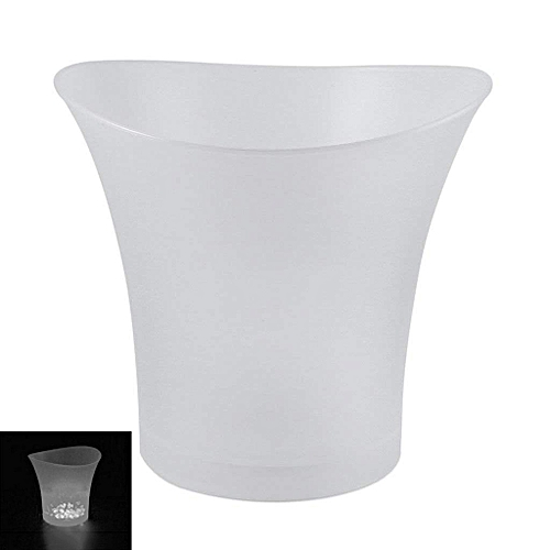 LED Ice Bucket Champagne Wine Beer Cooler Xmas Party 5L - White