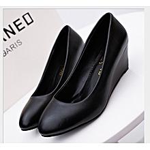 c44c728276f Classic Women Wedges Shoe-Black
