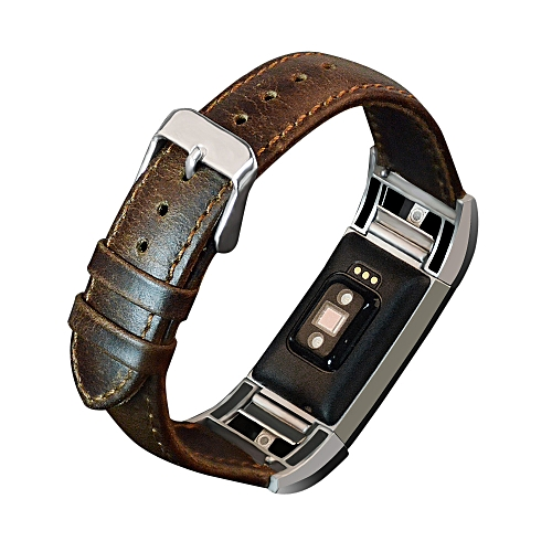 Leather Buckle Wrist Watch Band Strap Belt For Fitbit Charge2 Watch