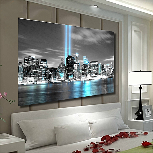 db901e57b38 Generic NEW YORK CITY Manhattan Skyline Canvas Print Painting Wall Art  Prints Unframed-75X50cm-Multi