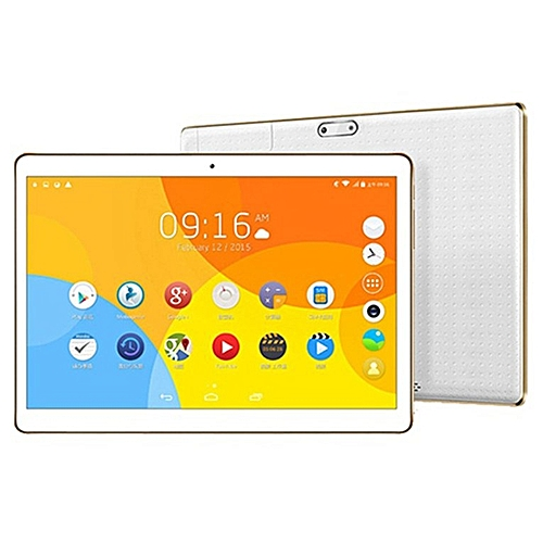 10.1 Inch Tablet PC RAM 4G ROM 64G Dual Card Camera White