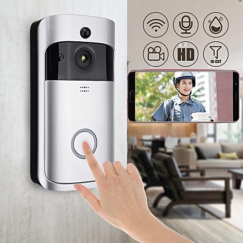 Home Security Wireless WiFi Smartphone Remote Video Camera Doorbell Rainproof Grey