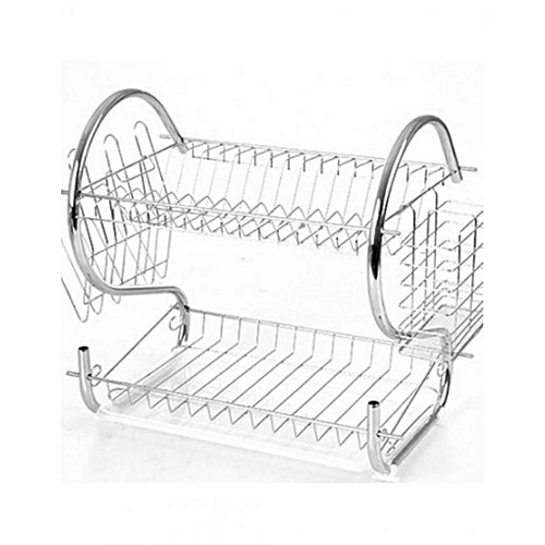 2 Layer Dish Rack And Drainer