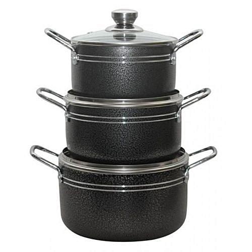 3Pcs Non Stick Kitchen Cooking Pot -