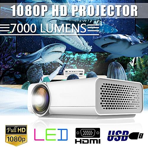 7000 Lumens 1080P LED Full HD Projector Multimedia Home Cinema Theater USB PC