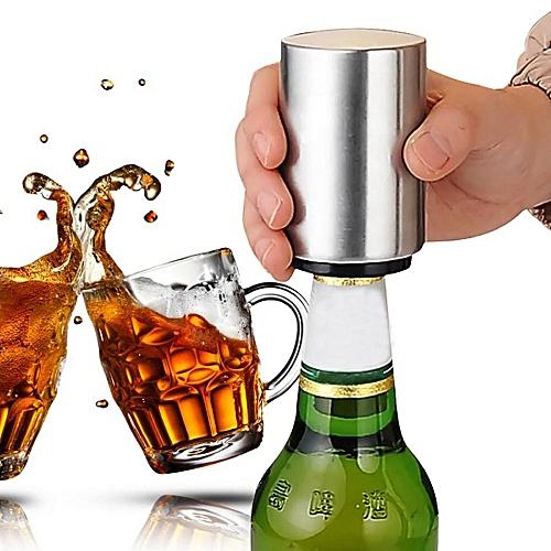 Stainless Steel Beer Bottle Opener - Silver
