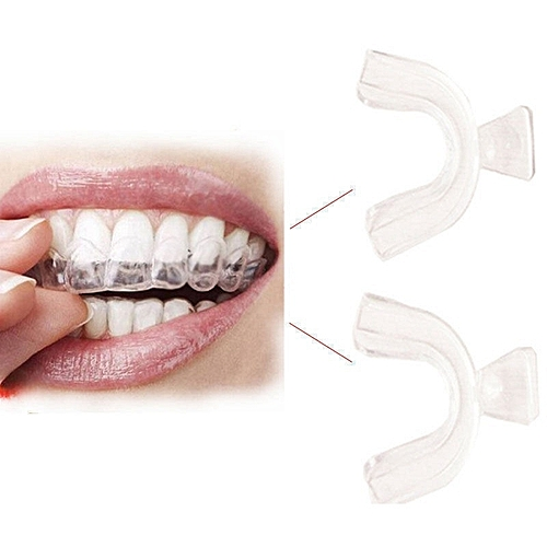 Generic 8pcs Dental Cold Light Whitening Dental Tray Transparent Dental Oral Teeth Whitening Tray Accessories Homemade Heat Curing Molding