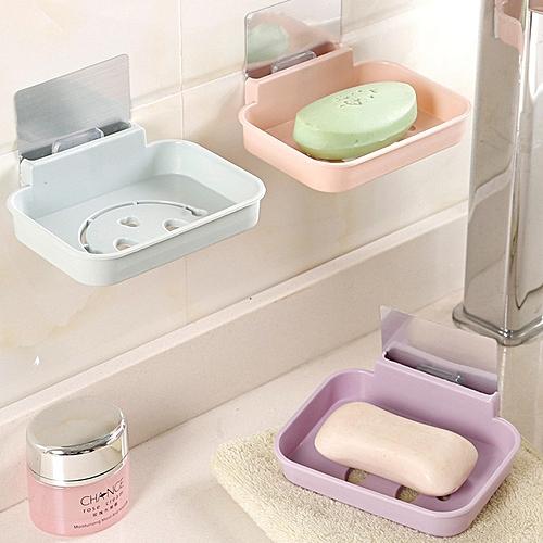 Honana BX-084 Bathroom Soap Dish Sink Sponge Holder Candy Color Magic Sticker Waterfall Soap Dish