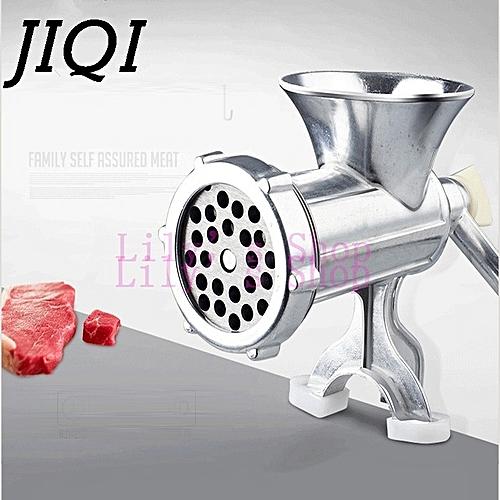 JIQI Manual Meat Slicer Mincer Aluminum Alloy Meat Grinder Mincer Machine Sausage Stuffer Table