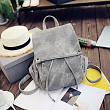 6dfdd5f926a2e Women Soft Leather Casual Small Packet Preppy Style Rucksacks Backpacks Bags