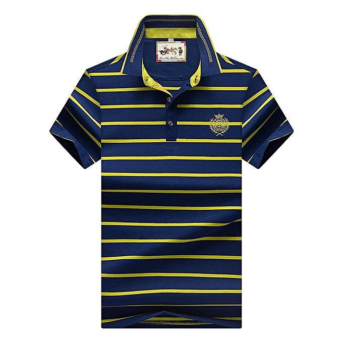 e00c7a27f Nice Super Big Size 8097 Men Polo Shirt New Cotton Summer Striped Polo Men  Business Casual