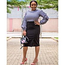 fcbe4881f1 Karen Ubani Apparel Blue Midi Dress With Neck Details. ₦ 15,000 · Gingham  Mix Pencil Dress