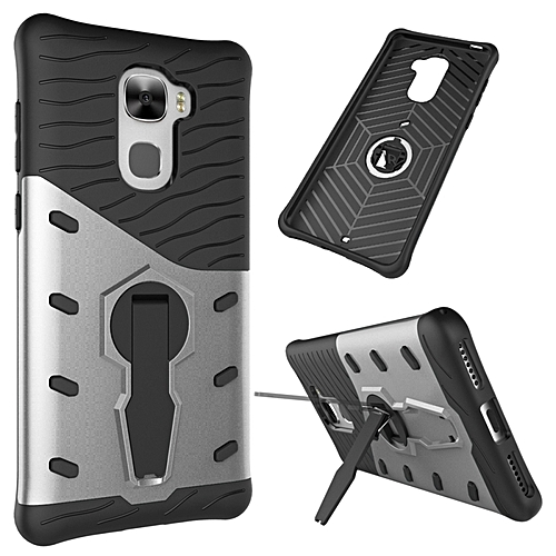 Letv Le Pro 3 Shock-resistant 360 Degree Spin Sniper Hybrid Case Tpu + Pc Combination Case With Holder (silver)