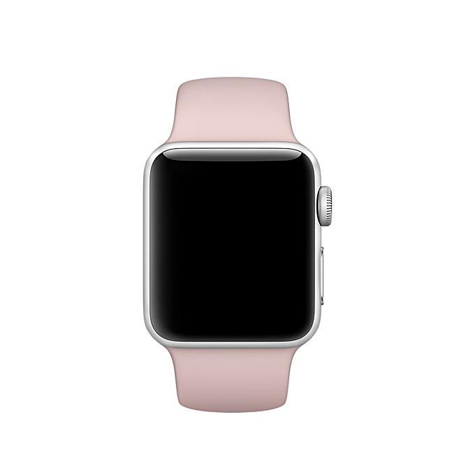 5c56fa2f11e375 ... For Apple Watch Series 3 And 2 And 1 38mm Fashion Simple Style Silicone  Wrist Watch ...