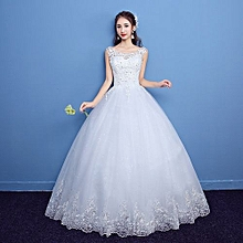 ba21725af24 Illusion Lace Wedding Gowns Ball Gown—White