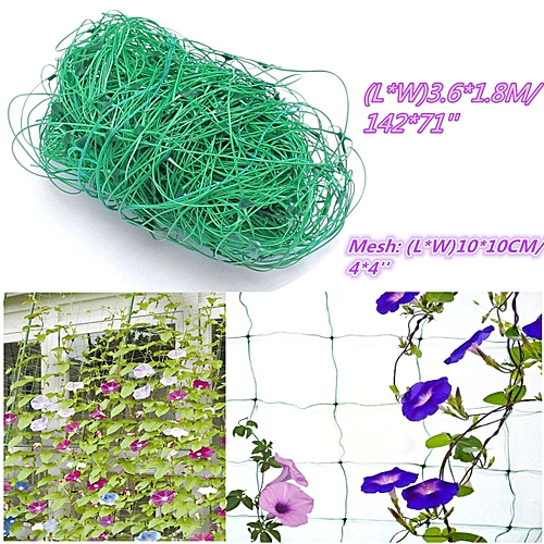 Green Nylon Trellis Netting - Plant Support Climbing Grow Tent Garden 142*71''