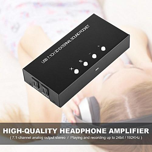 External Sound Card USB 2.0 External Digital Audio Adapter USB 7.1 Surround Sound Box Optical Fiber Sound Card