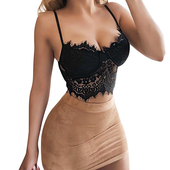 fb4297284c Fashion Sexy Women Floral Lace Bralette Bustier Crop Top Bra Shirt Vest XL