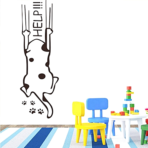 Bioaldla Store Dog Help Wall Decorative Simple And Creative Removable Wall Stickers