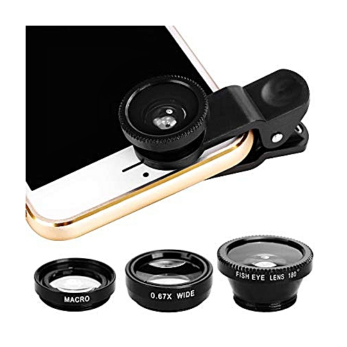 3 In 1 Fish Eye Camera Lens