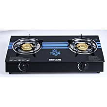9d3047dd26a PREMIUM HOUSEHOLD TABLE TOP GLASS GAS COOKER WITH 2 BURNER.