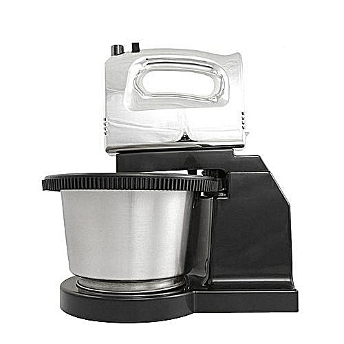 Cake Mixer /Hand Mixer With Rotating Bowl-Black