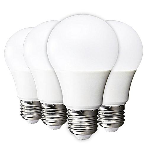 LED Bulb Lamp E27 9W High Brightness Light Bulb / Warm White - 4PCS