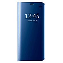 Samsung Galaxy S7 Edge Case ,[Perfect Fit] Translucent Mirror Flip Shell Ultra Smart