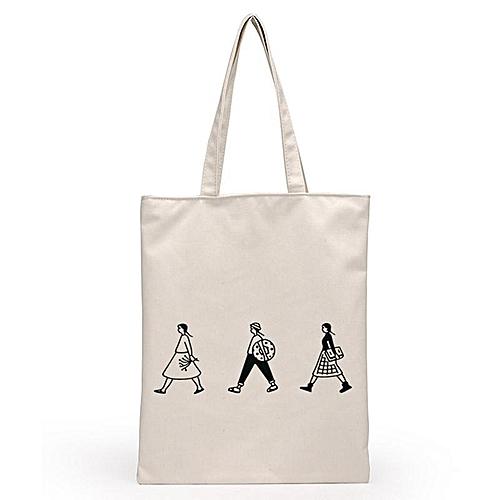 Canvas Shopping Bags Reusable Folding Shoulder Tote Bag Travel Bag School Bags Folding Shoulder Bag