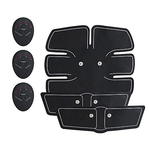Electronic Abdominal Arm EMS Muscle Stimulator Body Slimming Hip Shaper Trainer Vibrating Massager Fitness Exercise Machine(Combination Trainer)
